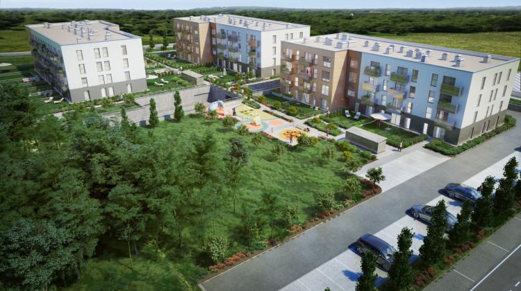 W ramach inwestycji powstaną trzy czterokondygnacyjne budynki.