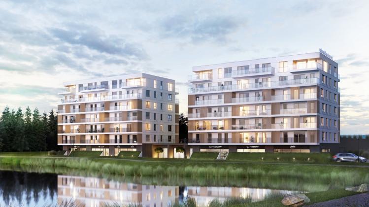 Budynki usytuowane będą nad samą wodą.