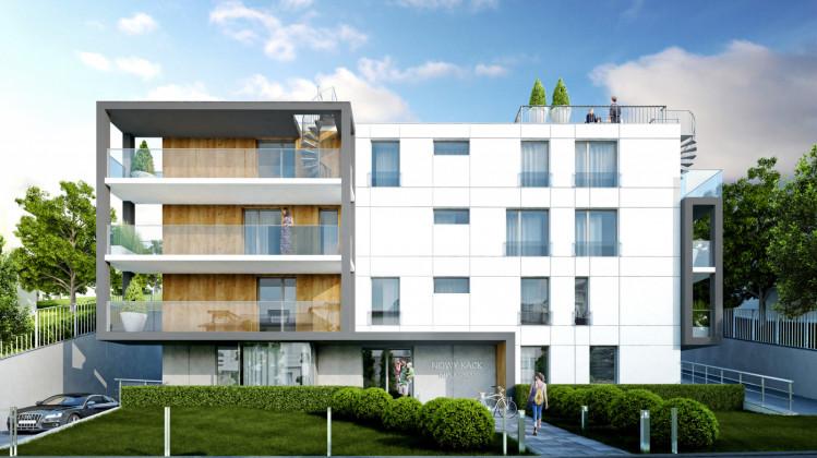 Charakter budynku podkreślała będzie reprezentacyjna strefa wejścia.
