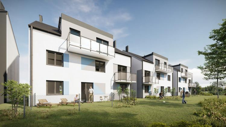 Wizualizacja budynków trzeciego etapu, domy czterorodzinne.