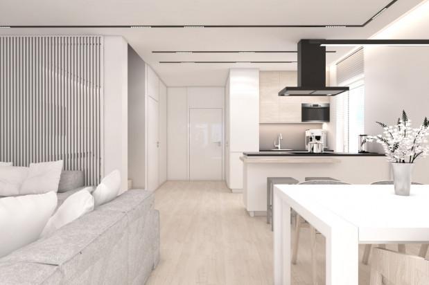 Każdy dom w zabudowie bliźniaczej będzie miał garaż i dodatkowe miejsce dla samochodu na podjeździe.