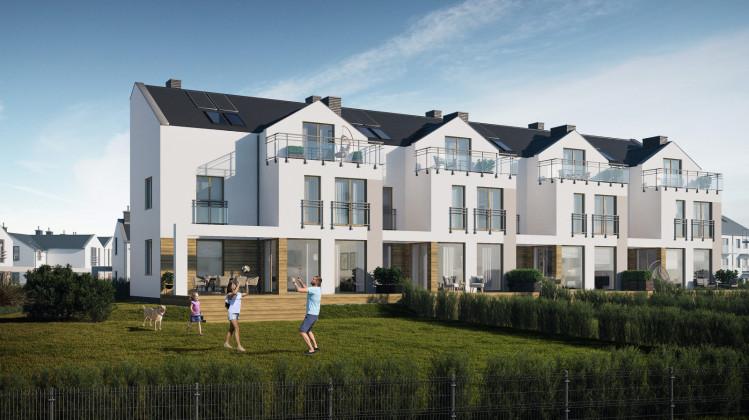 Wizualizacja ostatniego etapu domów powstałego do 2020 roku w ramach osiedla Wróbla Staw - powierzchnie od 321 do 362 m kw.