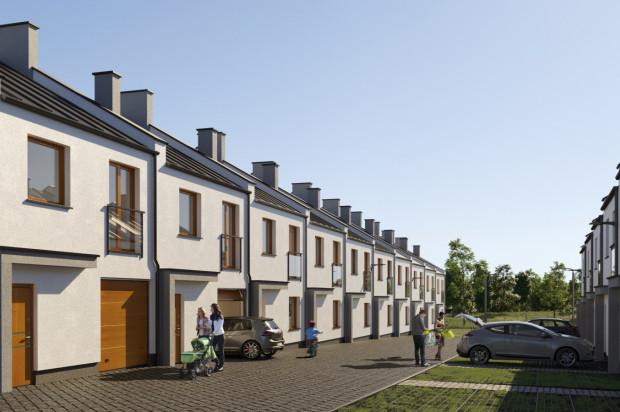 Kameralna zabudowa szeregowa kryła będzie domy i mieszkania.