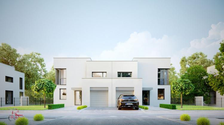 Domy w zabudowie bliźniaczej z pierwszego etapu inwestycji.