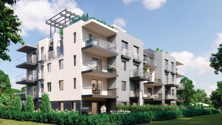 Mieszkańcy najwyższych pięter będą korzystać z prywatnych tarasów dachowych.