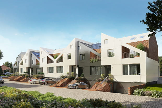 Budynki zostały tak zaprojektowane by ich właściciele mogli urządzić wewnątrz niebanalne, wygodne wnętrza.