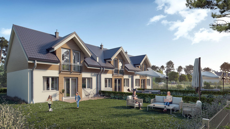 Wizualizacje domów z pierwszych etapów realizacji inwestycji (bez garaży).