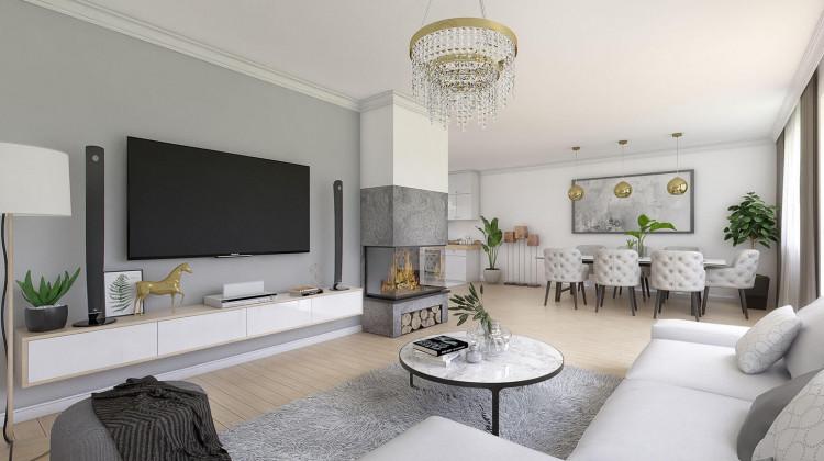 Propozycja aranżacji wnętrza w domach inwestycji Dolne Migowo.