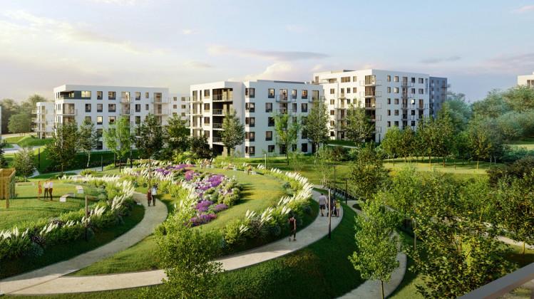 Inwestycja, zgodnie ze swoją nazwą, otoczona będzie specjalnie zaprojektowaną zielenią.