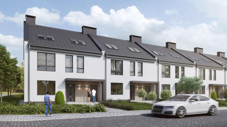 Pierwszy etap inwestycji. W niewielkich domach będą dwa lokale: mniejszy na parterze i większy, dwupoziomowy na piętrze.