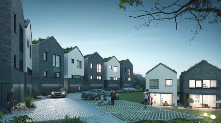 Osiedle stworzy kameralną enklawę domów o stonowanej architekturze.