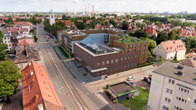 Inwestycja składała się będzie z wyremontowanej i przebudowanej dawnej poczty oraz dwóch nowych budynków wielorodzinnych.