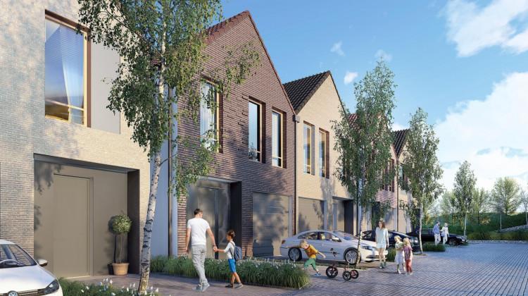 W pierwszym etapie inwestycji powstaje sześć domów z garażami i ogródkami.