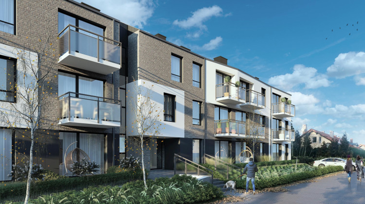 Budynek będzie miał dwie klatki schodowe, co umożliwi funkcjonowanie w małych społecznościach sąsiedzkich.