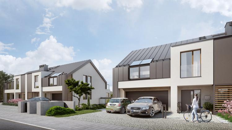 Domy w zabudowie bliźniaczej powstaną od strony Hausbrandta.