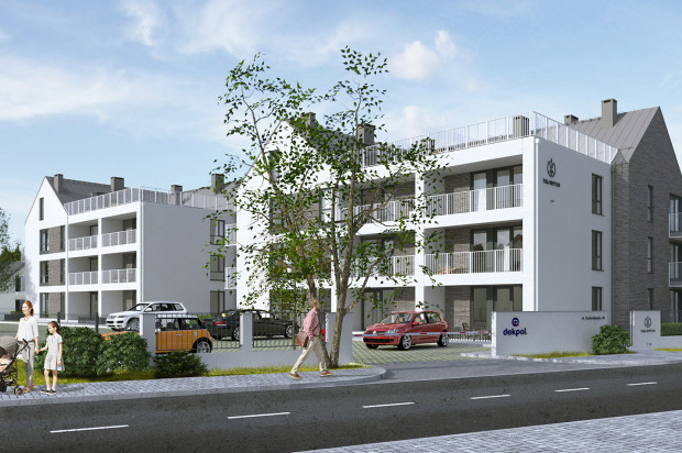 Do dwupoziomowych apartamentów na najwyższych kondygnacjach przylegać będą blisko stumetrowe tarasy.