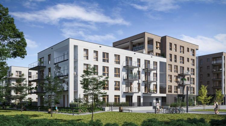 Wizualizacje szóstego etapu osiedla, który do użytku gotowy ma być w IV kwartale 2022 roku.