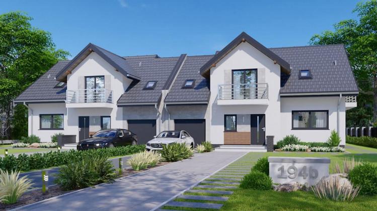 Domy w zabudowie bliźniaczej powstają na działkach o powierzchni 500 m kw.