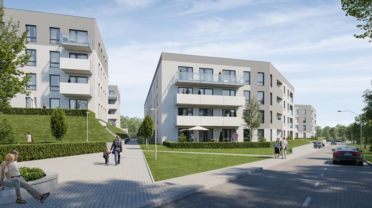 Budynki powstające kolejno w ramach osiedla mają cztery kondygnacje.