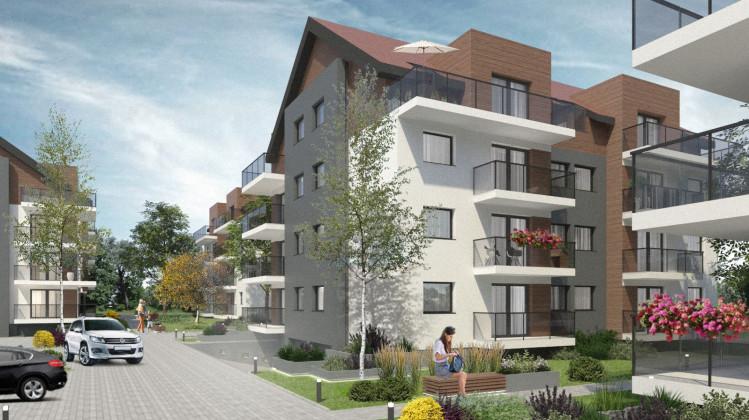 Przezroczyste balustrady balkonów zapewniają dobre doświetlenie wnętrz mieszkań.