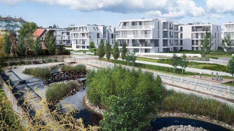 Drugi etap inwestycji przy Okrzei. Nowe nasadzenia pojawią się także wokół potoku.