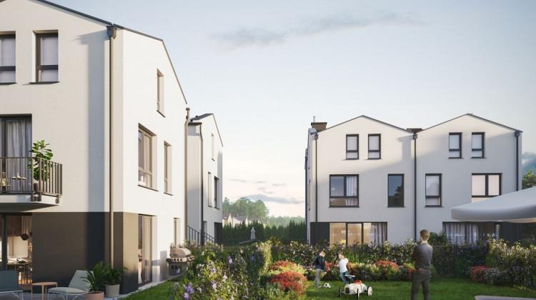 Pomiędzy budynkami zaplanowano większą przestrzeń, która ma być miejscem sąsiedzkiej integracji.