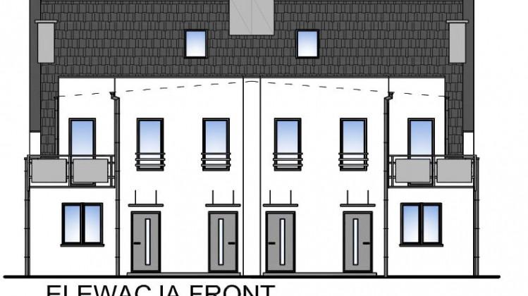 Budynki z mieszkaniami nie mają garaży w części parterowej budynku.