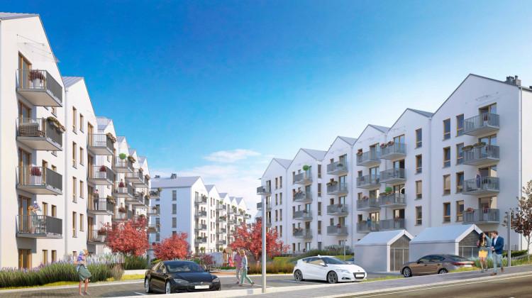Pięć budynków o przejrzystej architekturze otoczonych będzie specjalnie zaprojektowaną zielenią.