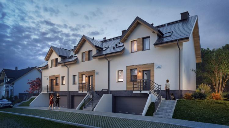 W kolejnych etapach Dolnego Migowa powstają większe domy, z dwustanowiskowymi garażami w części przyziemnej.