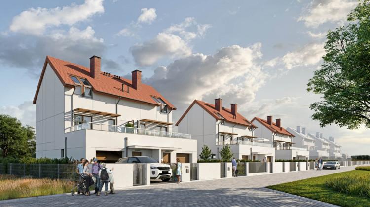 W pierwszym etapie powstają dwa domy. Docelowo przy Źródlanej powstanie kameralne osiedle.