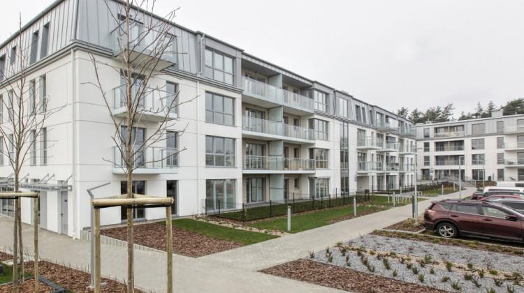 Pierwszy budynek osiedla oddany pod koniec 2020 roku.