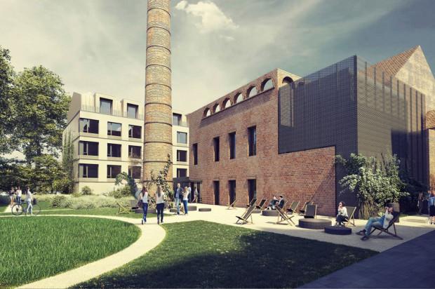 Budynek dawnej kotłowni zostanie odnowiony i przystosowany do nowej funkcji. Jako ozdobę i znak czasów pozostawiono stary, ceglany komin.
