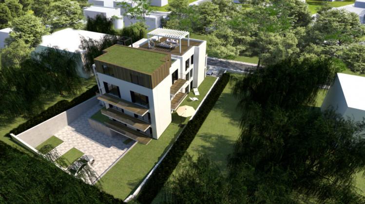 Zielone otoczenie budynku zapewni niezwykłe jak na warunki miejskie miejsce do życia.