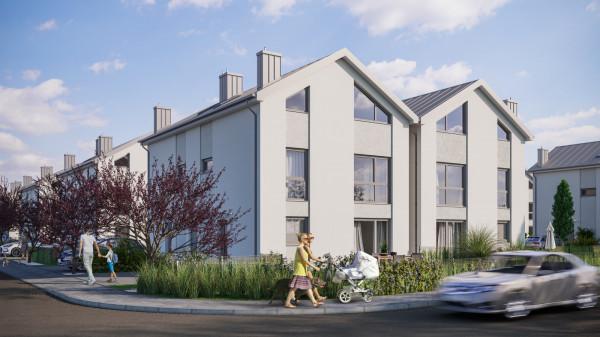 Niewielkie domy o przyjaznej architekturze stworzą kameralne, uporządkowane osiedle.