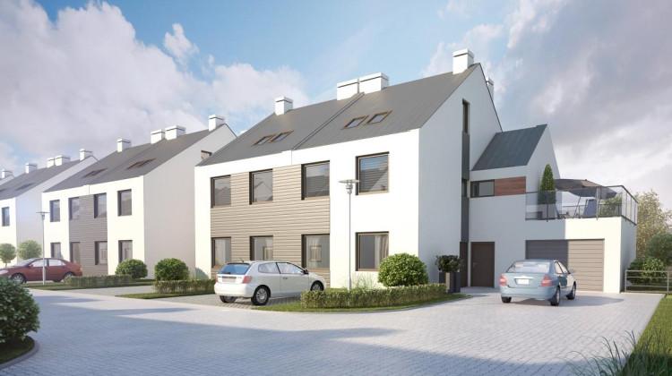 Do skrajnych segmentów na osiedlu przylegały będą garaże indywidualne.