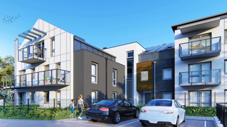 Niebanalny projekt budynku sprawia, że wewnątrz powstały lokale o ciekawych rozkładach.