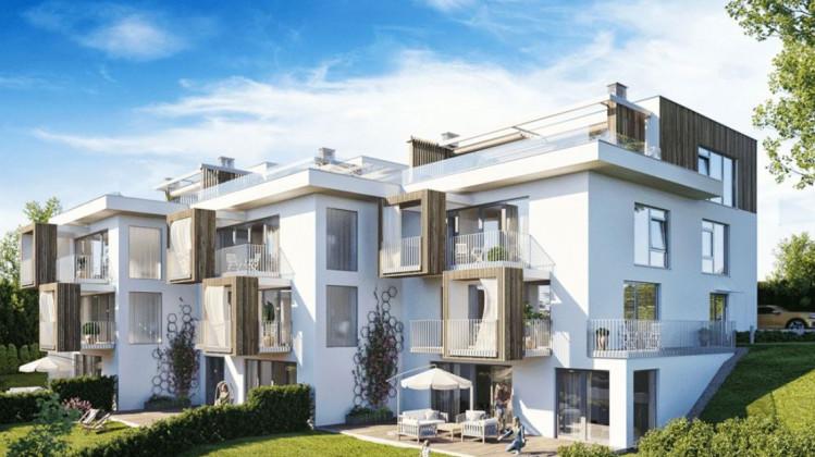 Budynki wkomponowane w skarpę zapewnią przyszłym mieszkańcom intymność i ciekawy rozkład przestrzeni mieszkań.