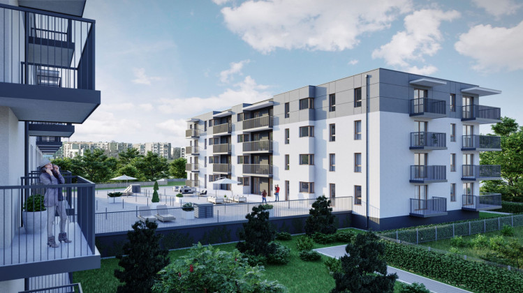 Pod dwoma budynkami powstanie wspólna hala garażowa. Jej dach zostanie wykorzystany do stworzenia osiedlowej przestrzeni dla mieszkańców.