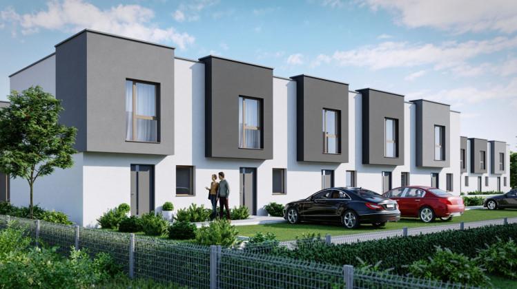 W niewielkich domach znajdą się cztery pokoje. Parkowanie auta możliwe będzie bezpośrednio przed domem.