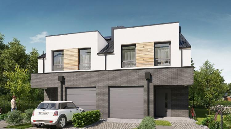Domy przy Dąbrówki będą miały własne garaże oraz aż cztery pokoje na piętrze.