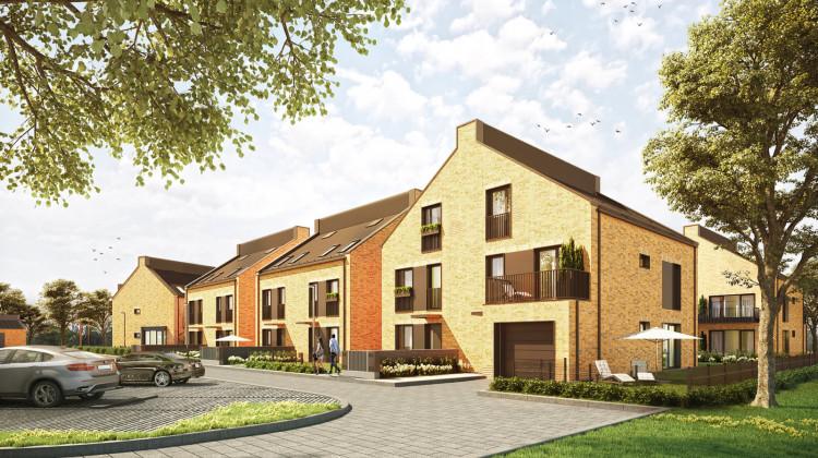 Nowa Cegielnia to kameralna zabudowa, na którą złożą się mieszkania i domy.