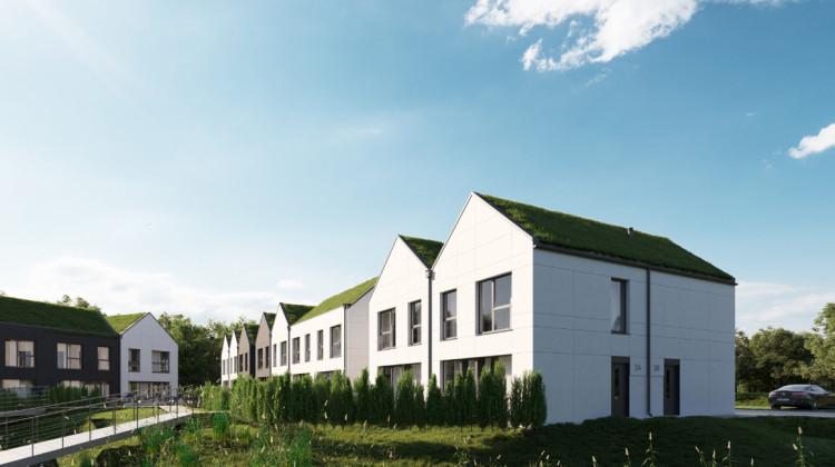 W składającej się z segmentów zabudowie powstaną mieszkania oraz domy jednorodzinne. Dachy budynków będą zielone - pokryte specjalną roślinnością.