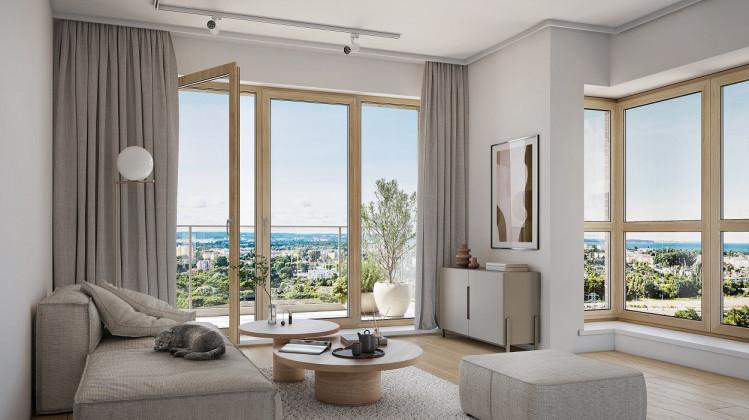 Wnętrza mieszkań jakie powstaną w budynkach realizowanych w etapie J Nowej Letnicy. Zostanie on zakończony na początku 2024 roku.