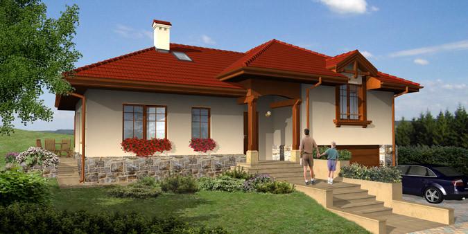 Wizualizacja jednego z domów powstałych w ramach pierwszego zadania.