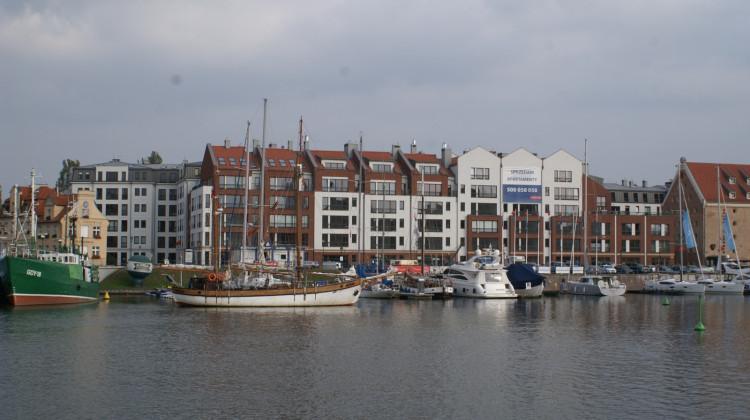 Apartamentowiec stworzył jeden z najnowszych gdańskich waterfrontów.