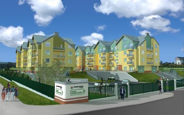 Projekt osiedla przemyślany jest głównie pod kątem oszczędności energii do ogrzewania budynków i ciepłej wody.