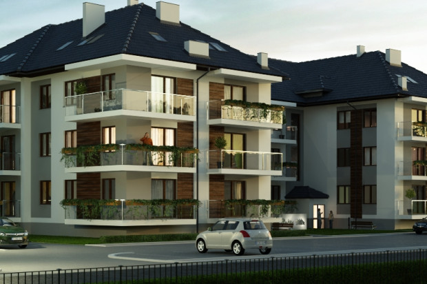 Przemyślany projekt elewacji sprawia, że budynek robi wrażenie eleganckiego. mat. inwestora