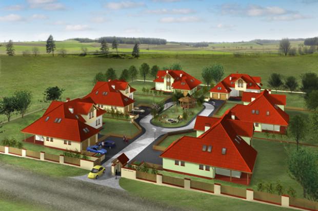 Domy na Osiedlu Widokowo skupione będą wokół rekreacyjnej przestrzeni dostępnej dla wszystkich mieszkańców.