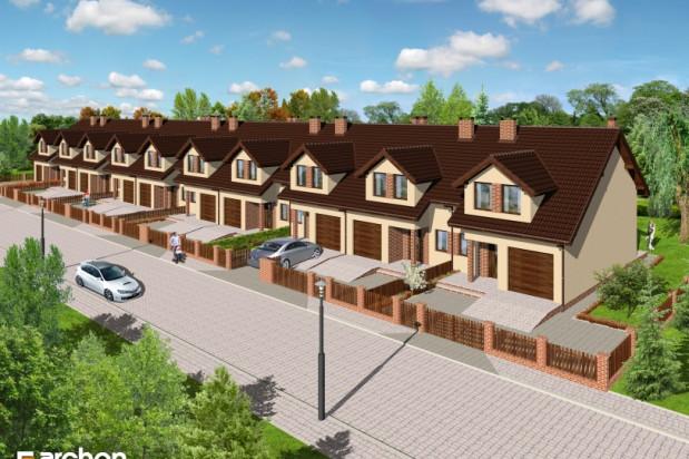 Domy z garażami na Osiedlu na Wspólnej powstają w szeregach po 10 domów.
