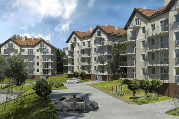 Budynki na Południowym Stoku będą miały cztery kondygnacje oraz dodatkowo użytkowe poddasza (mieszkania dwupoziomowe).